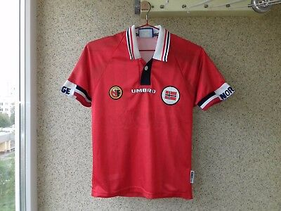 Norway Umbro Vintage 1998-1999 Home football shirt growt 134 Rare Jersey