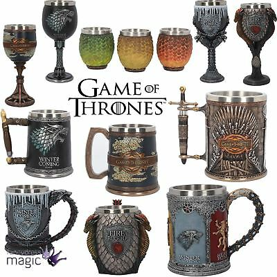 Nemesis Now Collectors Game Of Thrones Goblet Tankard Stark Targaryen Home Gift