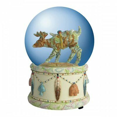 Spirit Visions Deer Musical Water Globe Collectible Lot/4  Units New