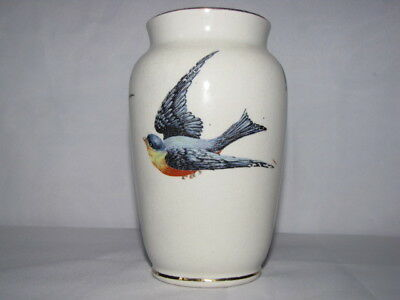 "BEAUTIFUL ""Bluebird of Happiness"" Circa. 1925 Porcelain Vase ""Blue Bird"""