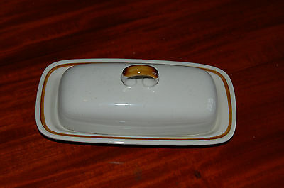 Retro Mountain Wood Collection Vanilla Spice Lidded Butter Dish.