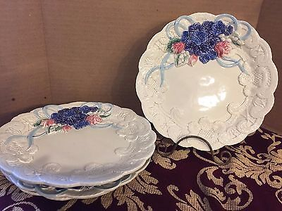 Fitz Floyd Victorian Lace Canape Plate - Lot of 4 Plates (8 1/2 in) - Pristine!