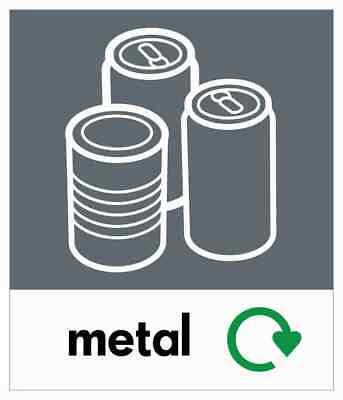 Small Can Recycling Bin Sticker / Signage - High Tack Laminated