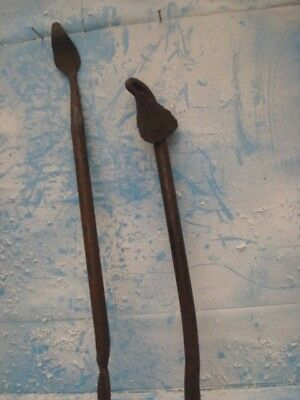 Two Vintage Wrought Iron~Pieces ~Hand Forged~Blacksmith Made