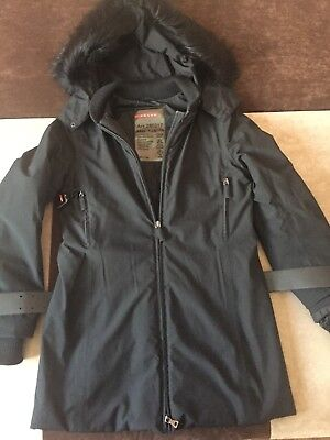 e942a65095 Women s Prada Winter Jacket real fur hood size 40 made in Italy ...