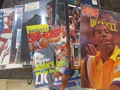 Lot of 20+ Vintage Beckett Basketball Magazines - SHAQUILLE ONEAL /MAGIC JOHNSON