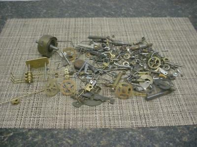 Large Lot of Clockmaker Clock Brass Movement Parts Gears SteamPunk E548