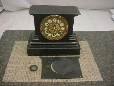 Ansonia Metal Clock Case with Egg & Dart Brass Decorative Dial Bezel F025