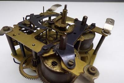 """Vintage """"Hall""""  Brass Clock Movement """"Foreign UP"""" 12cm / 190.66 Parts   E634a"""