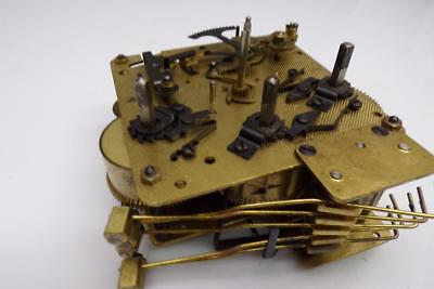 """Vintage """"77"""" 340-020  Haid Clock Brass Westminster Movement Parts Repair E797a"""