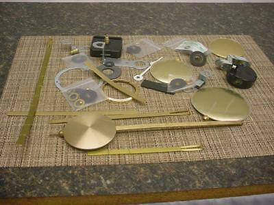 Huge Lot of Clockmaker Mantle Wall Clock Pendulums Bobs Parts SteamPunk  D225