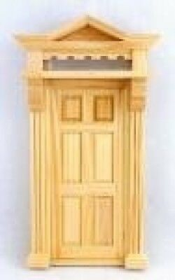 Melody Jane Dolls House Victorian Front Entrance Door 6 Panel with Top Light