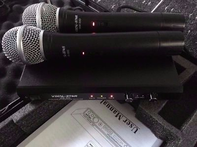 Vocal-Star WM-880 wireless 2 x  microphones & reciever