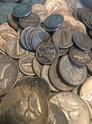 90% Silver U.S. Coin Lot $1 Face Value -circulated