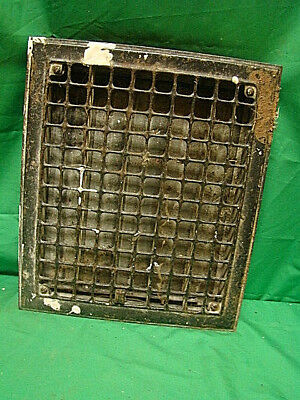 Vintage 1920S Iron Heating Grate Square Design 14 X 12 Fh