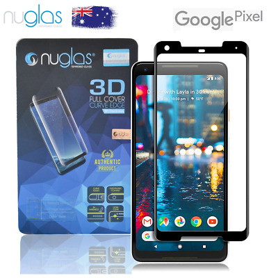 NUGLAS GOOGLE PIXEL 2XL 2 XL FULL 3D SCREEN PROTECTOR Curved TEMPERED GLASS
