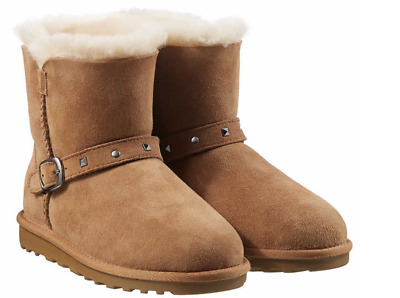 NWOB Kirkland Signature Kid's Shearling Boots with Studded Buckle