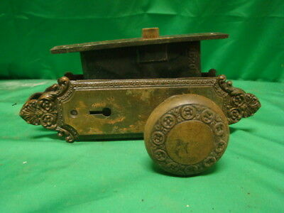 Antique Stunning Iron Art Nouveau Door Knob Set