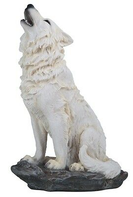 """8"""" Howling Wolf Nature Wildlife Animal Statue Collectible Wild Sculpture"""