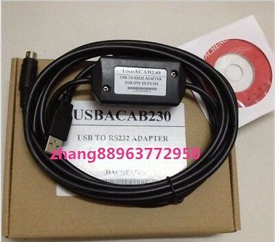 NEW USB ACAB230 Programming Cable for Delta DVP series PLC USB DVP zhang88