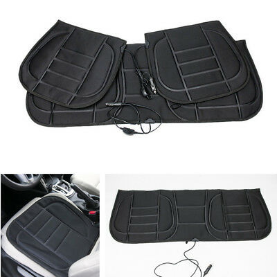 3x Car Seat Cushion Cover Heated Warmer Pad Heater Winter Cigarette Lighter Plug