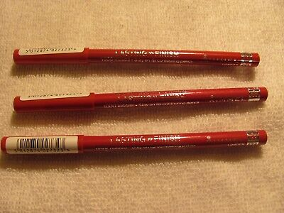 RIMMEL EXAGGERATE FULL COLOUR LIP LINER 1000 Kisses #021 Red Dynamite Lot of 3