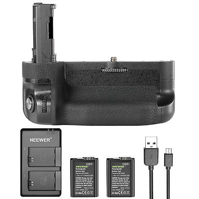 Neewer Battery Grip with 2 Batteries and Daul Charger for Sony A7 II A7R II