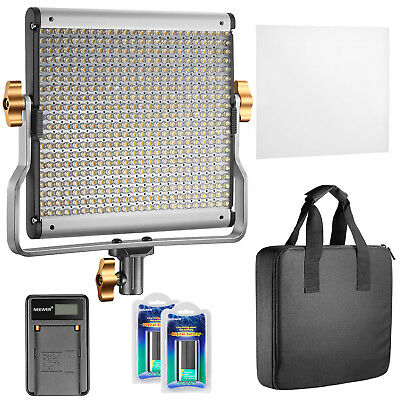 Neewer Dimmable Bi-color 480 LED Video Light with 2pcs Li-ion Battery & Charger
