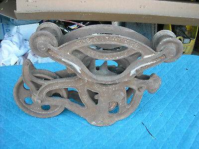 Antique Hey Trolley The NEY MFG. Co Cast Iron Barn Pulley