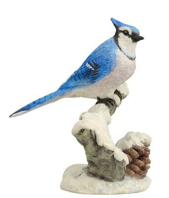 "4.75"" Blue Jay Animal Bird Statue Home Decor Sculpture Figure"