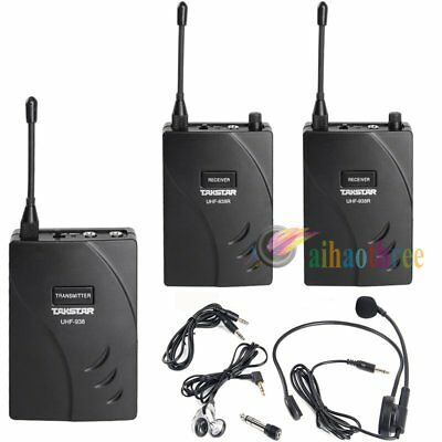 Takstar UHF-938 PLL Wireless Tour Guide System Transmitter + 2x Receiver【AU】