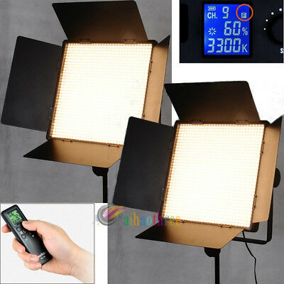 2Pcs GODOX LED1000Y Yellow Version Professional Studio LED Light Remote Lighting