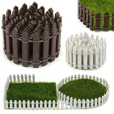 Micro Landscaping Decor DIY Accessories Mini Wood Fence Fairy Garden Houses