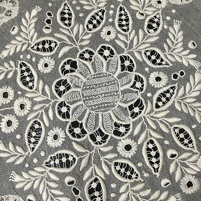 NAPPERON BRODERIE ancienne ANTIQUE FRENCH Embroidery FAIT MAIN HANDMADE Lace