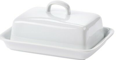 White Porcelain Butter Dish Large Capacity Butter Dish