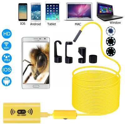 8mm 11.5ft 8led WIFI Waterproof Endoscope Inspection camera for Andriod Iphone