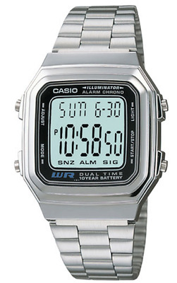 Casio Watch Retro Digital Unisex  A-178  A178WA   Illuminator Alarm With Box-MET