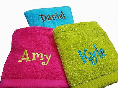 Personalised Beach Swimming Towel 88 x130cm Cotton Ideal Gift Large Embroidered
