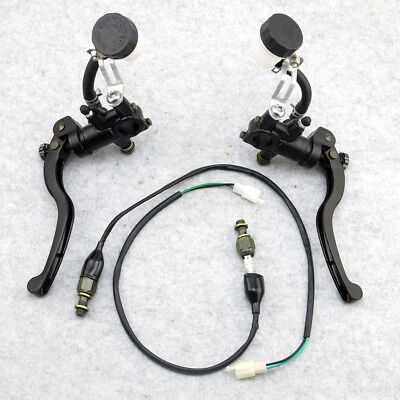 Hydraulic Brake Clutch Lever Master Cylinder Sensor Line Cable Motorcycle