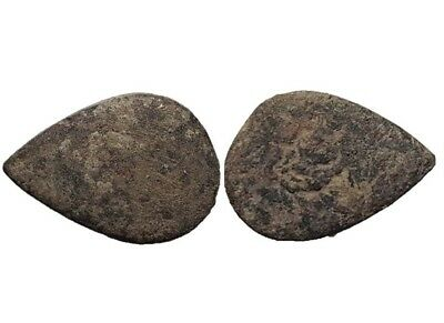 *Prados* Awesome Ancient Celtic Bronze Precoin - 22x32 mm / 28,43 gr.