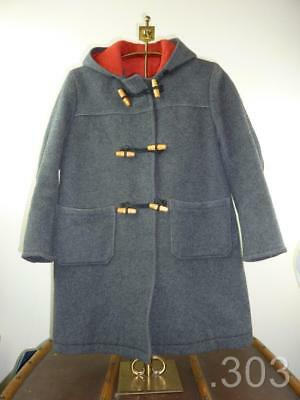 Vintage Childrens Grey Wool Duffle Coat Boys or Girls 1950 / 60's