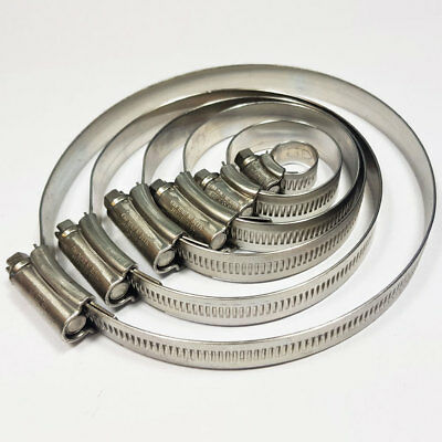 Stainless Steel JCS Hose Clip Jubilee Clips Worm 12mm - 160mm Sizes Available