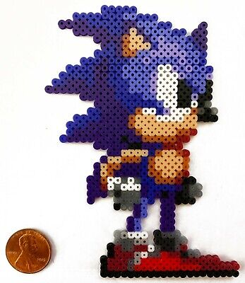 Sonic The Hedgehog Blue Mini Bead Sprite Perler Hama Artkal Pixel Art Icon Retro