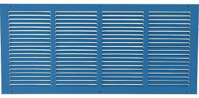 "24""W x 10""H Steel Return Air Grilles Sidewall & Ceiling - HVAC DUCT COVER Blue"