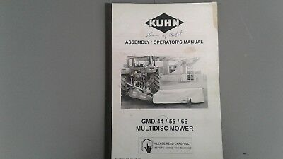 Kuhn GMD 44/55/66 Multidisc Mower Assembly/Operator's Manual