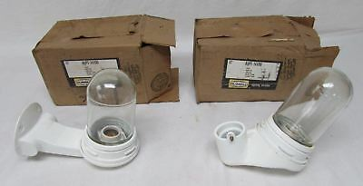 Hubbel aopt-14100 industrial wall mount lights pair new old stock