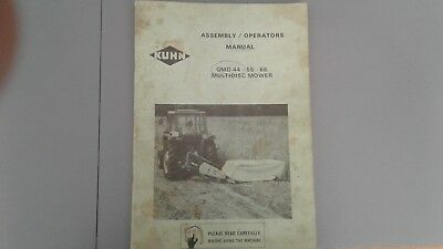 Kuhn Assembly/Operator's Manual GMD 44 - 55 -66 Multidisc Mower