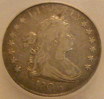1806 Draped Bust Quarter ICG Fine 15