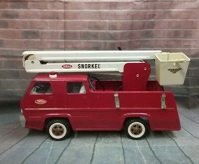 Vintage 1970's Tonka Snorkel Fire Truck With Hydrant Bucket