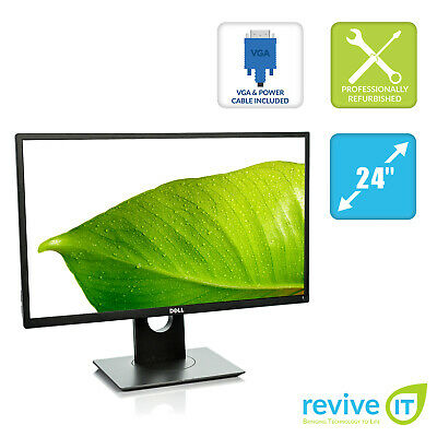 "Dell P2417H 24"" Widescreen 1920x1080 Full HD IPS LED LCD Monitor HDMI Grade B"